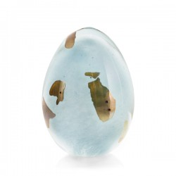 Nynne Rosenvinge Papirvægt Light Blue Gold Egg