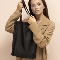 Stolbjerg Copenhagen Tote Bag Leather - Sort