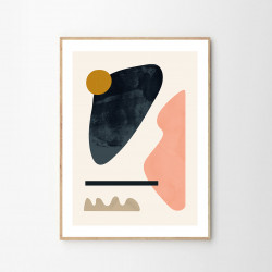 The Poster Club Floating Shapes 05 - Flere Størrelser