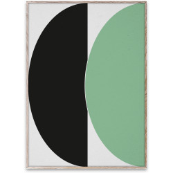 Paper Collective - Half Circles III Green/Blue