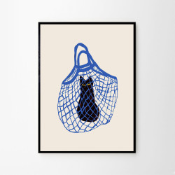 The Poster Club - The cat in the bag